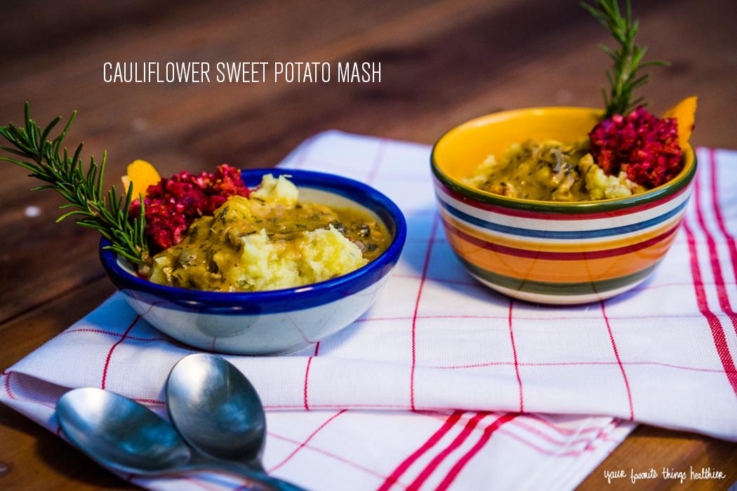 Cauliflower Sweet Potato Mash