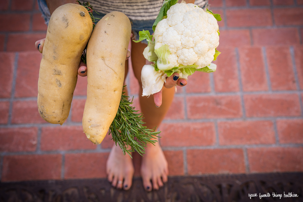 Cauliflower Sweet Potato Mash / @YFTHlifestyle #vegan
