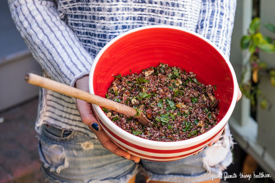Protein Packed Quinoa Salad  / @YFTHlifestyle #quinoa